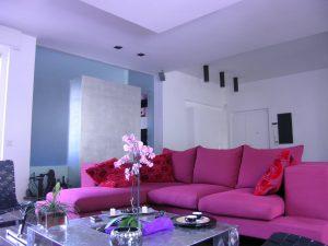 Ristrutturazione- casa Roma- architetto- progetto- su misura- living- salotto