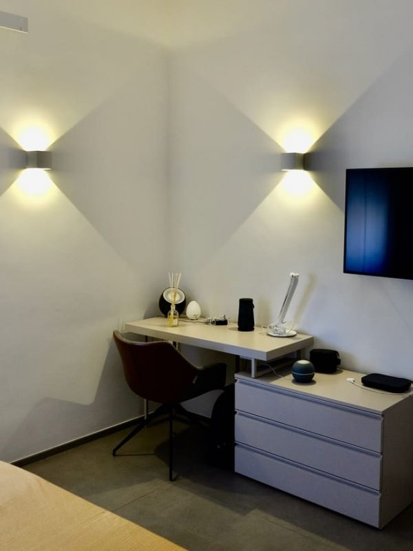 camera da letto spazio lavoro smart working