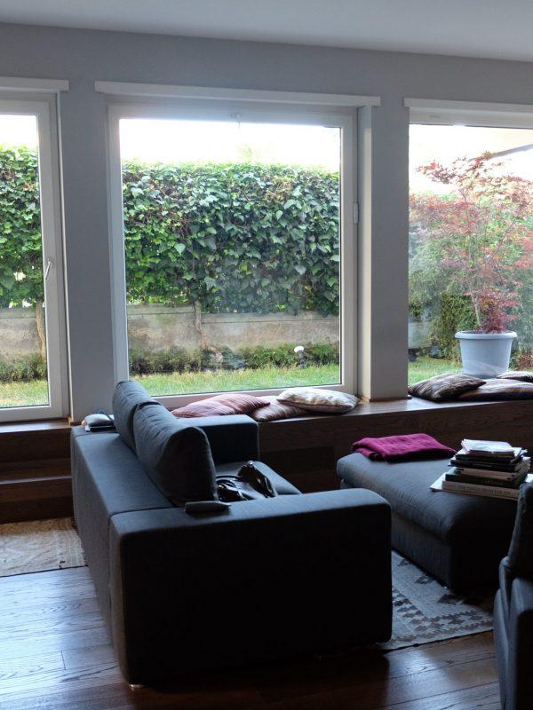 vetrate vista giardino salone design interni